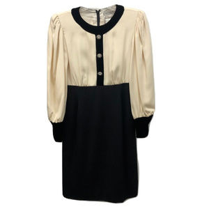 Carolina Herrera Velvet and Silk Dress, Size 10